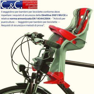 Seggiolino per bambini per biciclette conforme