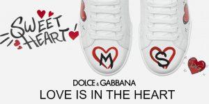 Love is the heart le sneakers personalizzabili di Dolce & Gabbana per San Valentino
