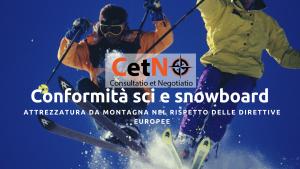 conformita sci e snowboard